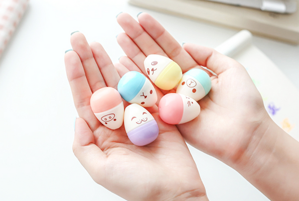Kawaii Mini Egg Highlighter 6-pack 10