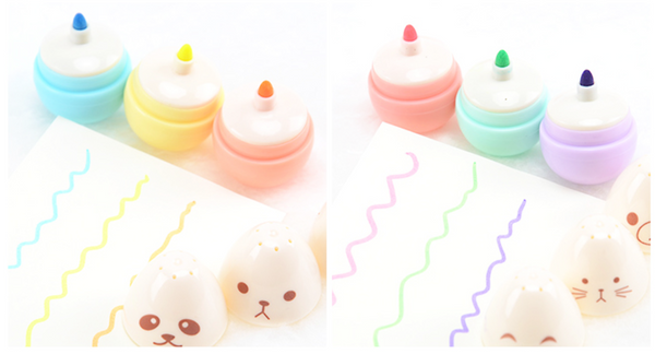 Kawaii Mini Egg Highlighter 6-pack 8