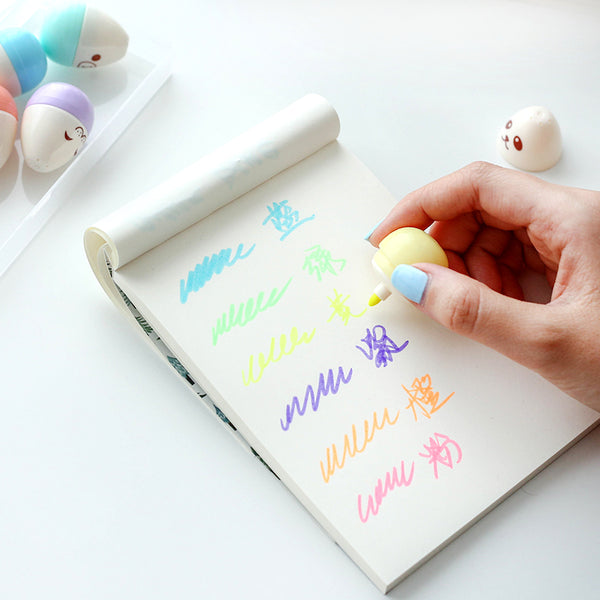 Kawaii Mini Egg Highlighter 6-pack 4