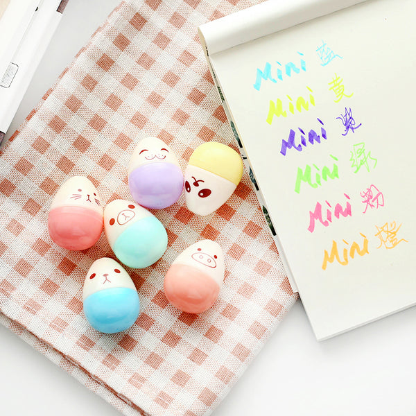 Kawaii Mini Egg Highlighter 6-pack 11