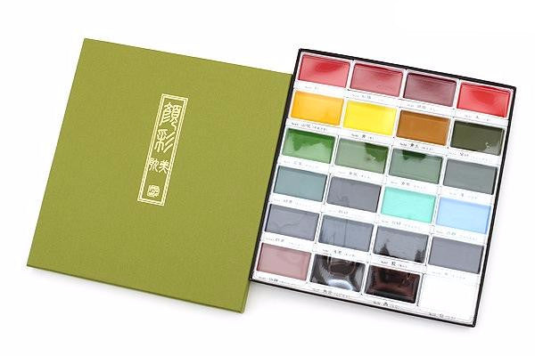 Kuretake Gansai Tambi Watercolor Palette - 24 Color Set 12