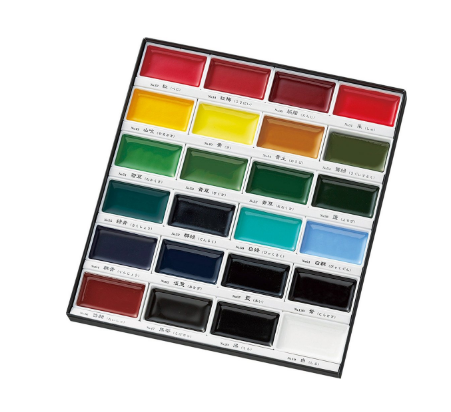 Kuretake Gansai Tambi Watercolor Palette - 24 Color Set 4