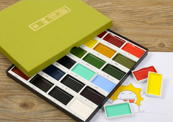Kuretake Gansai Tambi Watercolor Palette - 24 Color Set 10