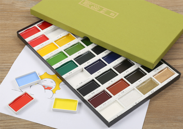 Kuretake Gansai Tambi Watercolor Palette - 36 Color Set 5