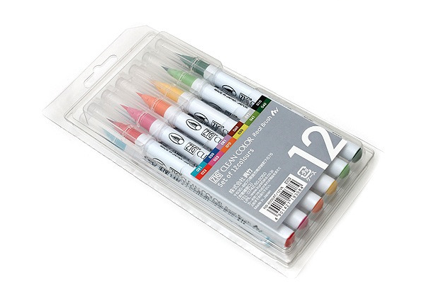 Kuretake ZIG Clean Color Real Brush Pen - 12 Color Set 5