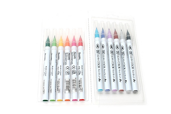 Kuretake ZIG Clean Color Real Brush Pen - 12 Color Set 4