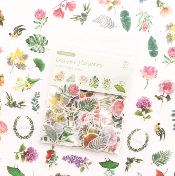 Floral Paper Stickers