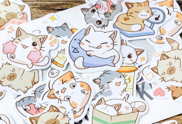 Cute Chibi Cat Planner Stickers