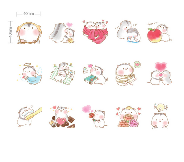 Two Hamsters Paper Stickers 9