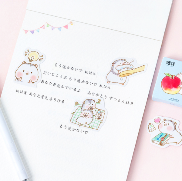 Two Hamsters Paper Stickers 5