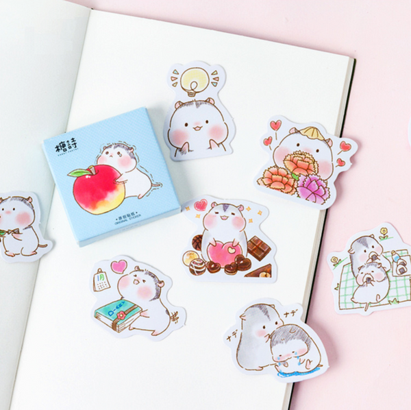 Two Hamsters Paper Stickers 3