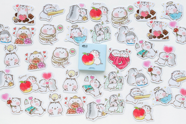 Two Hamsters Paper Stickers 7