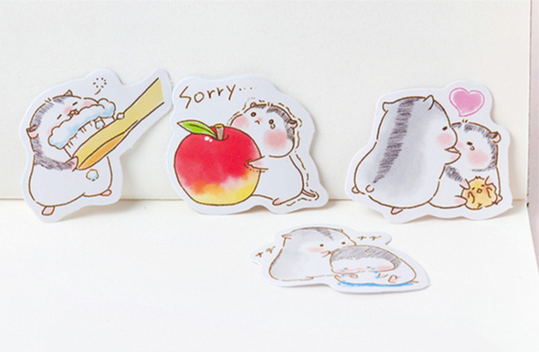 Two Hamsters Paper Stickers 8