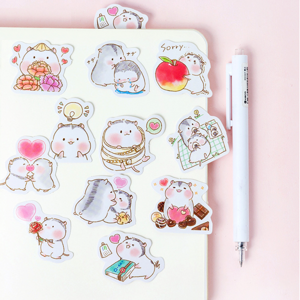 Two Hamsters Paper Stickers 2