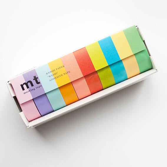 MT Masking Tape Boxed Set of 10 - Light Colors