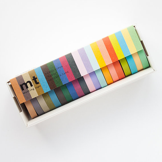 MT Masking Tape Set of 20 - Light & Dark Colors