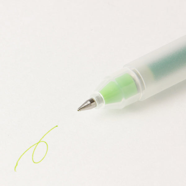 MUJI Gel Ink Ballpoint Pen - Yellow Green