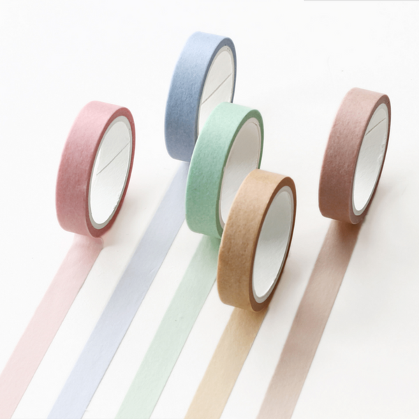 Macaron Color Washi Tape Set - Natural Colors (9 Types)