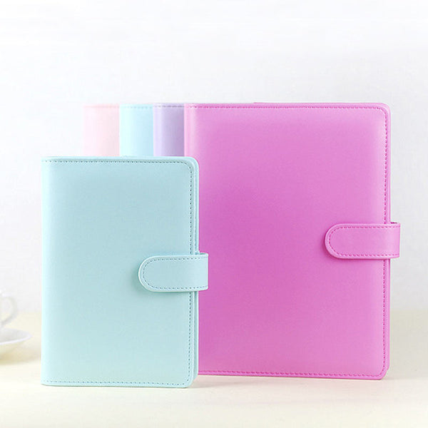 Pastel Color Leather Planner