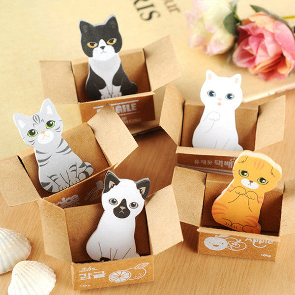 Nice Cute Kawaii Cartoon Animal Finger Unicorn Memo Pad Note Sticky Paper Korean Stationery Cat Planner Sticker School Office Cool In Summer And Warm In Winter Memo Pads