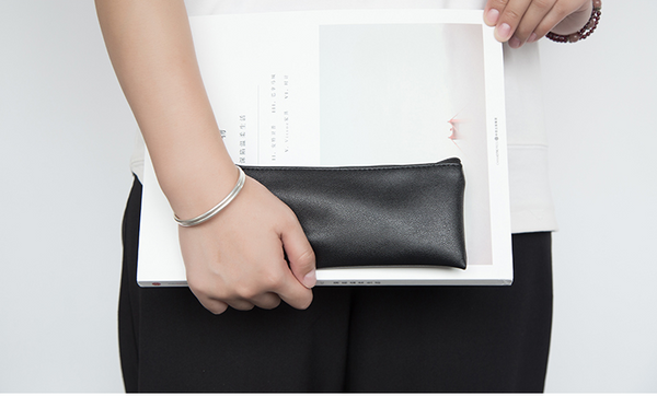 Minimal Design Leather Pencil Case 5