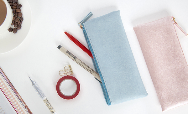 Minimal Design Leather Pencil Case 4