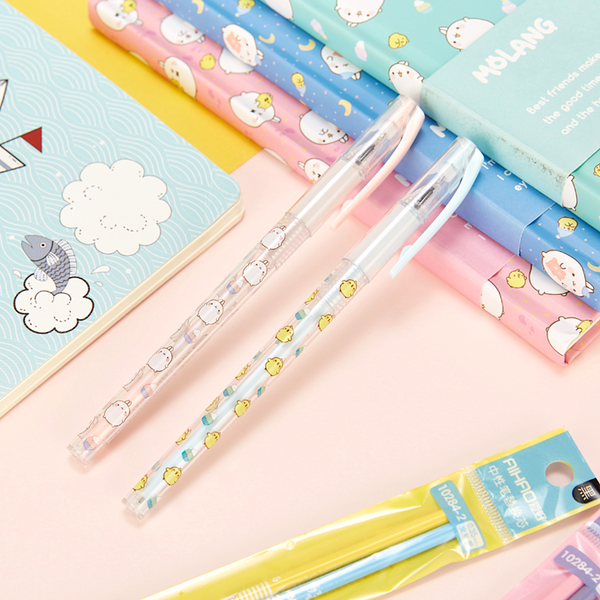 Molang Rabbit Black Gel Pens