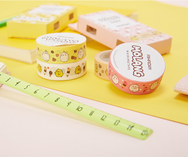 Molang Rabbit Washi Tape 2-Pack