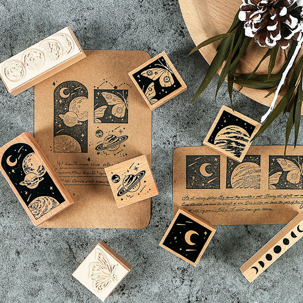 My Universe Wooden Stamp Set