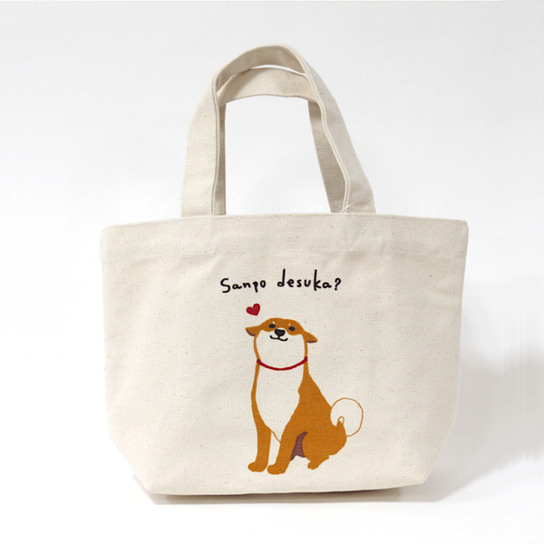 Narumi Shibatasan Mini Tote Bag - 'Shall we go for a walk?'