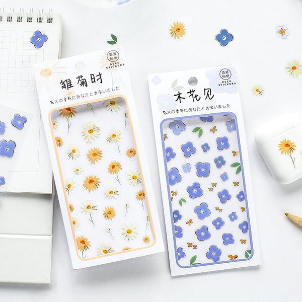 Oh-So-Sweet Floral Deco Stickers (4 Types)