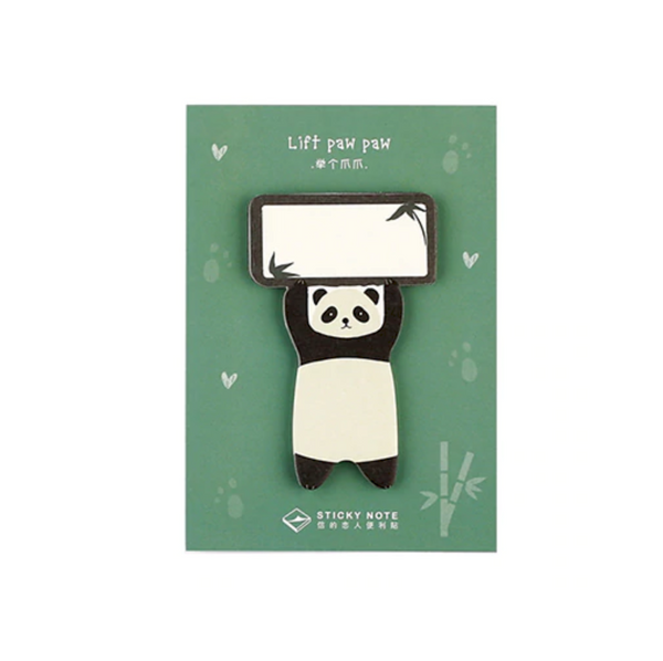 Paws Up Animal Sticky Notes adhesive memo pad notepad