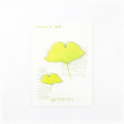 Petal & Leaf Sticky Notes Ginko