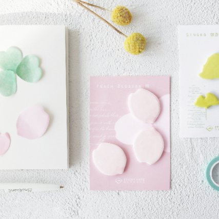 Petal & Leaf Sticky Notes