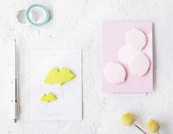 Petal & Leaf Sticky Notes 3