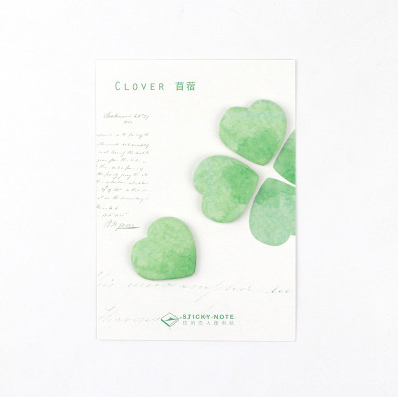Petal & Leaf Sticky Notes Clover