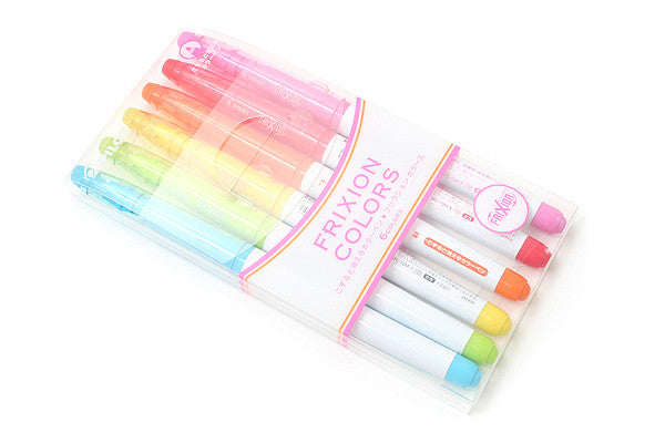 Pilot Frixion Colors Erasable Marker 6 Color Set 5
