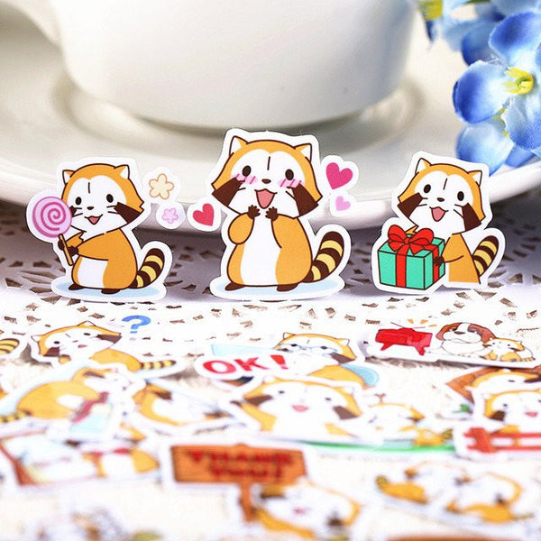 Red Panda Plastic Stickers