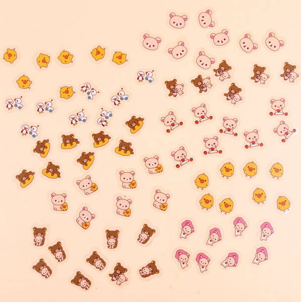Rilakkuma Decorative Stickers adhesive labels
