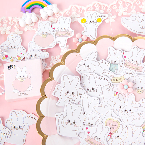 Romantic Rabbit Paper Stickers