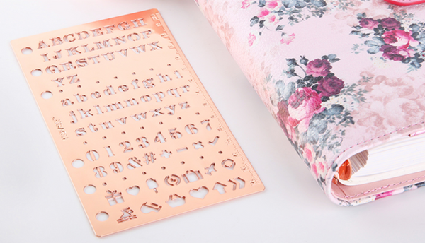 Rose Gold Planner Stencil & Ruler 5