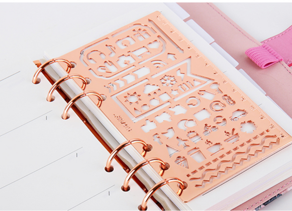 Rose Gold Planner Stencil & Ruler 6