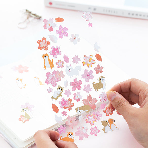 Spring Cherry Blossom Floral Stickers 2