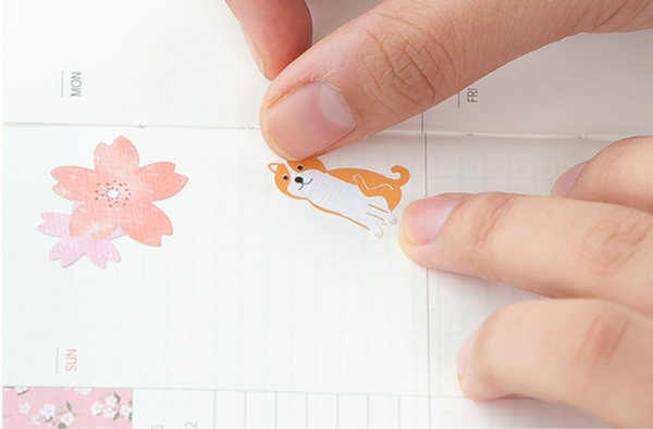 Spring Cherry Blossom Floral Stickers 6