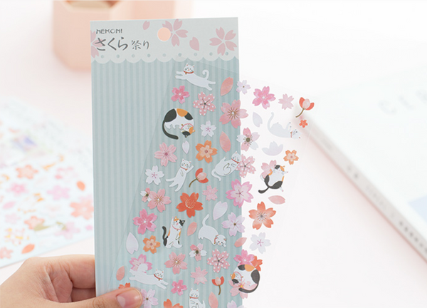 Spring Cherry Blossom Floral Stickers 3