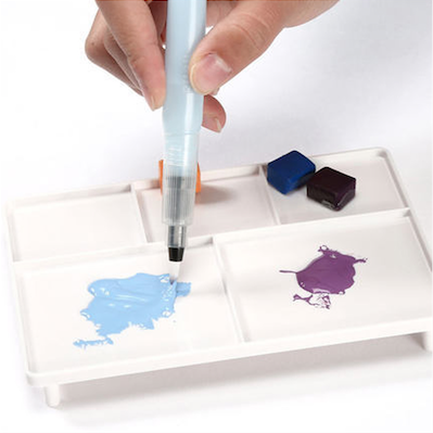 Sakura Petit Color Watercolor Field Sketch Box Set - 30 Color Palette + Water Brush 7