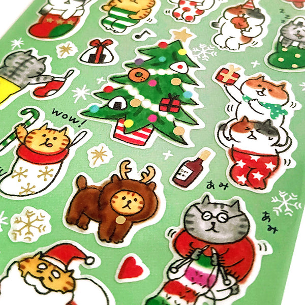 Nyansuke Merry Christmas Stickers