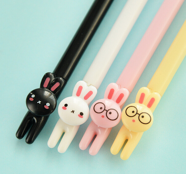 Kawaii Cartoon Rabbit Gel Pen 4-pack