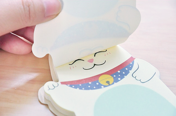 Fortune Cat Sticky Memo Pad