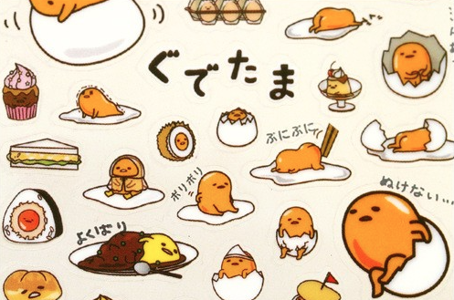 Gudetama Lazy Egg Stickers